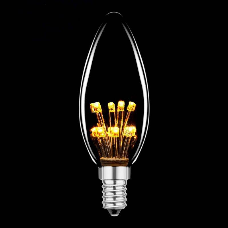 NCC LED Rustika Carbon Kerze E14 1W 2100k 40lm