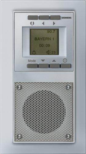 siemens unterputz radio mit uhr und weckfunktion silber. Black Bedroom Furniture Sets. Home Design Ideas