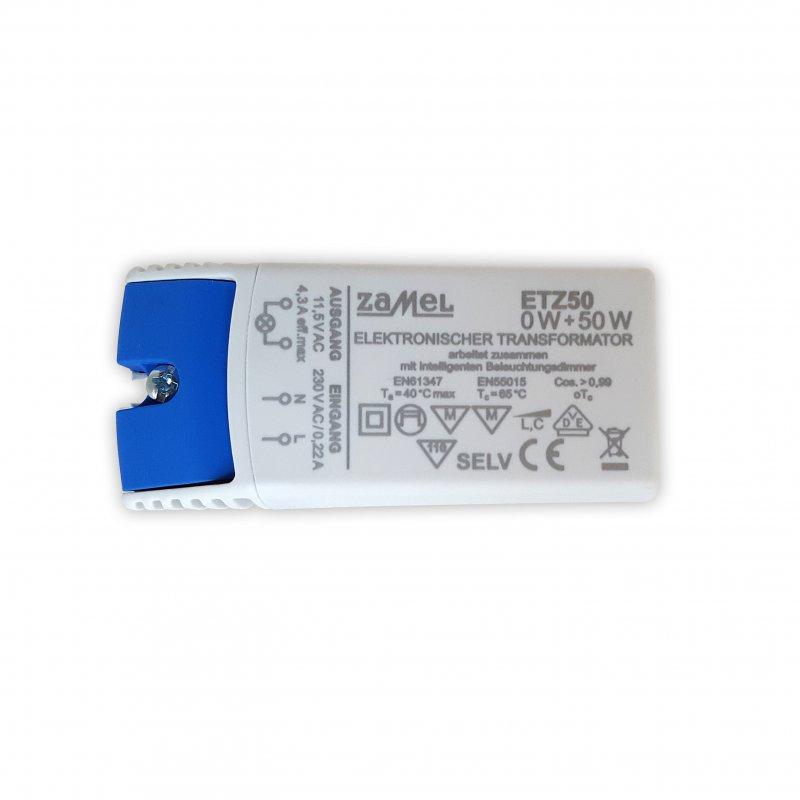 Zamel ETZ50 Trafo 50 VA 230V/12V 0-50Watt dimmbar