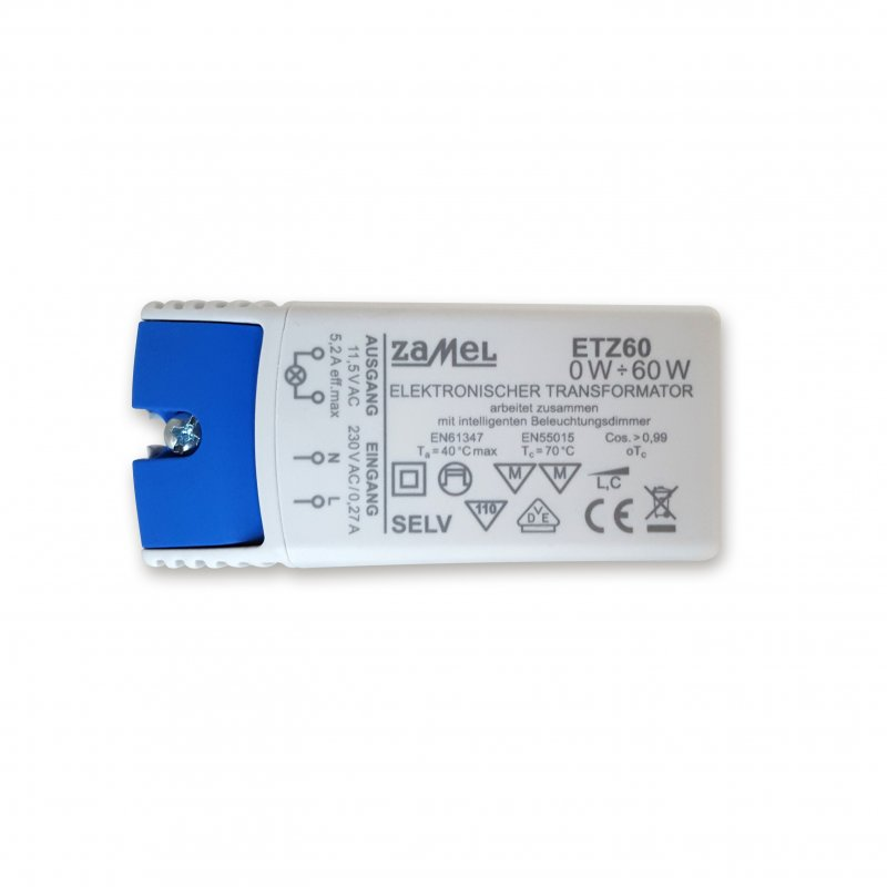 Zamel ETZ60 Trafo 60 VA 230V/12V 0-60Watt dimmbar