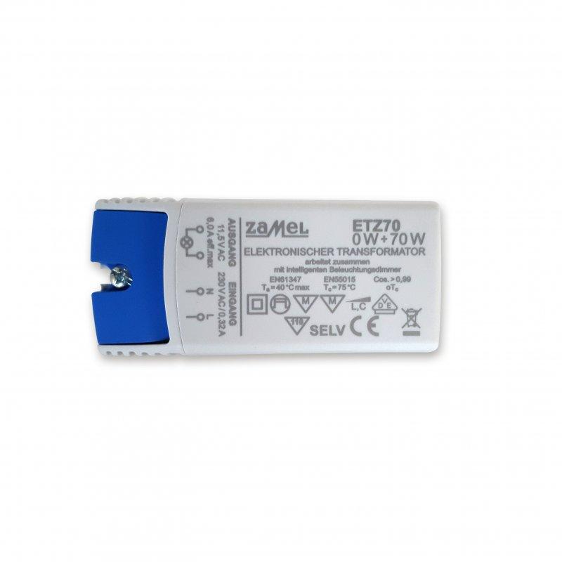 Zamel ETZ70 Trafo Elektronisch 70VA 230V/12V 0-70Watt VDE dimmbar