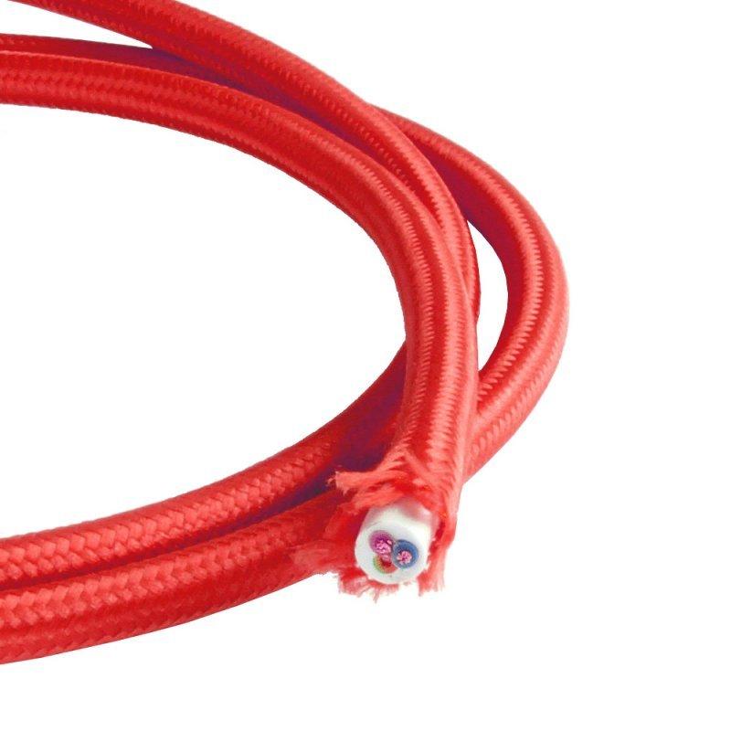 NCC H03VV-F 3*0,75mm² Textilkabel rot