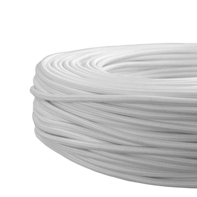 NCC Textilkabel weiß 3 Adern H03RT-H 3*0,75mm² Besonderheit ø 6,3mm