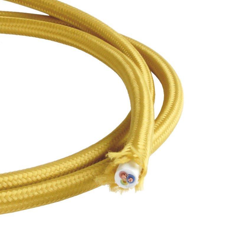 NCC Textilkabel gold 3 Adern H03RT-H 3*0,75mm² Besonderheit ø 6,3mm