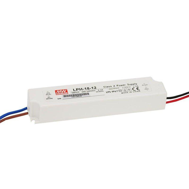Mean Well LED Netzgerät 12V DC 18W IP67 LPH-18-12