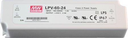 Mean Well LED Netzgerät 24V DC 60W IP67 LPV-60-24