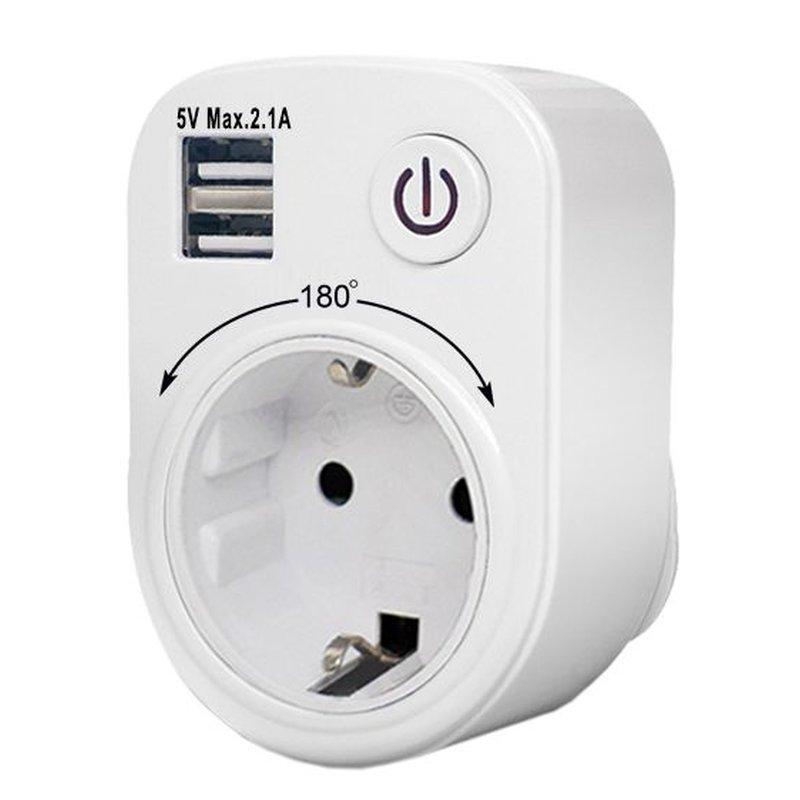 NCC USB-Reiseadapter 2100mA drehbar mit Kinderschutz