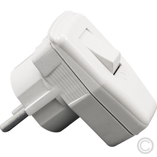eltric Winkelstecker abschaltbar mit weißem Schalter