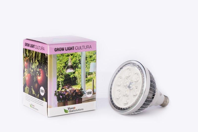VENSO EcoSolutions LED Pflanzenlampe E27 18W 60° Wachstum