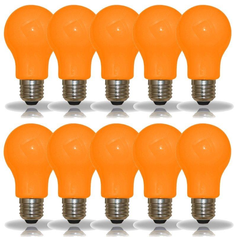 NCC 10er Set LED-Lampen Glühlampenform A60 3W E27 orange