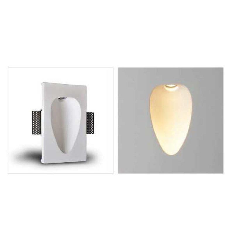 NCC LED Gipswandeinbauleuchte Oval 230x145x55 LED 1W 3000k